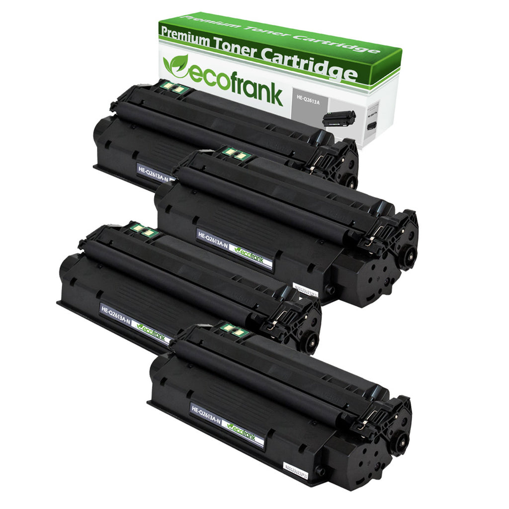 EcoFrank Compatible Toner Cartridge Replacement for HP 13A Q2613A (Black, 4-Pack)