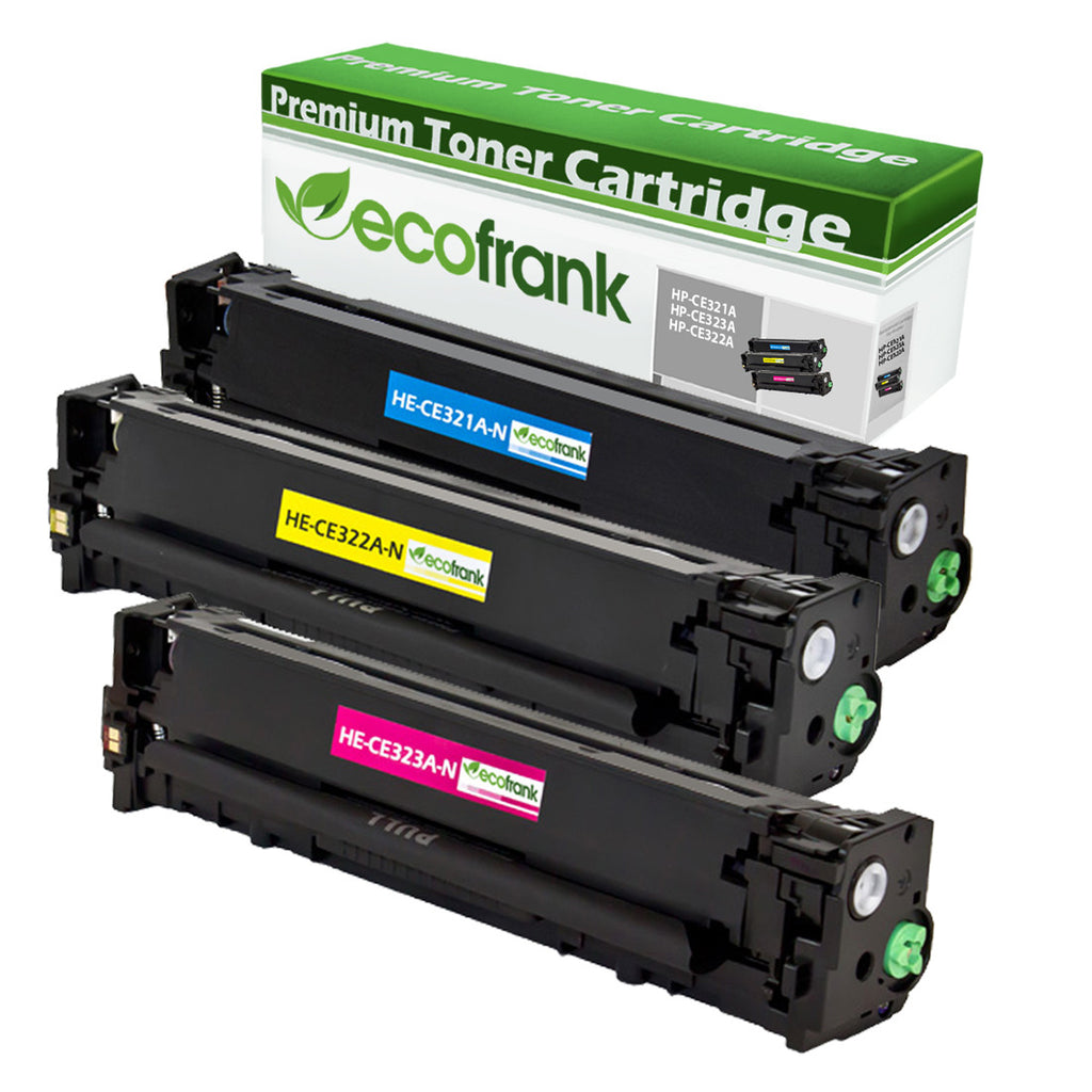EcoFrank Compatible Toner Cartridge Replacement for HP 128A CE322A CE323A CE321A (Cyan, Magenta, Yellow)