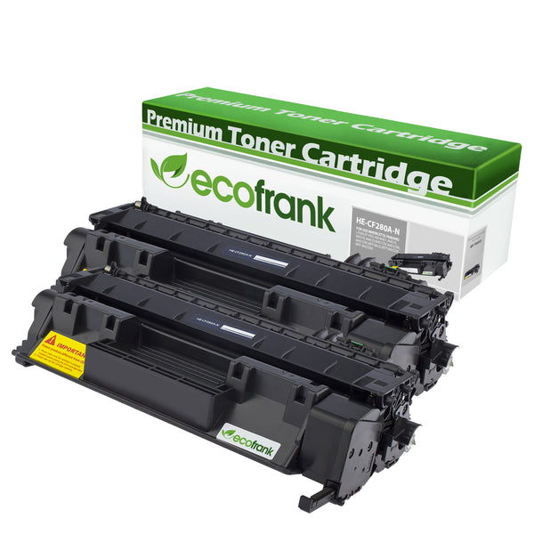 EcoFrank Compatible Toner Cartridge Replacement for HP 80A CF280A (Black, 2-Pack)