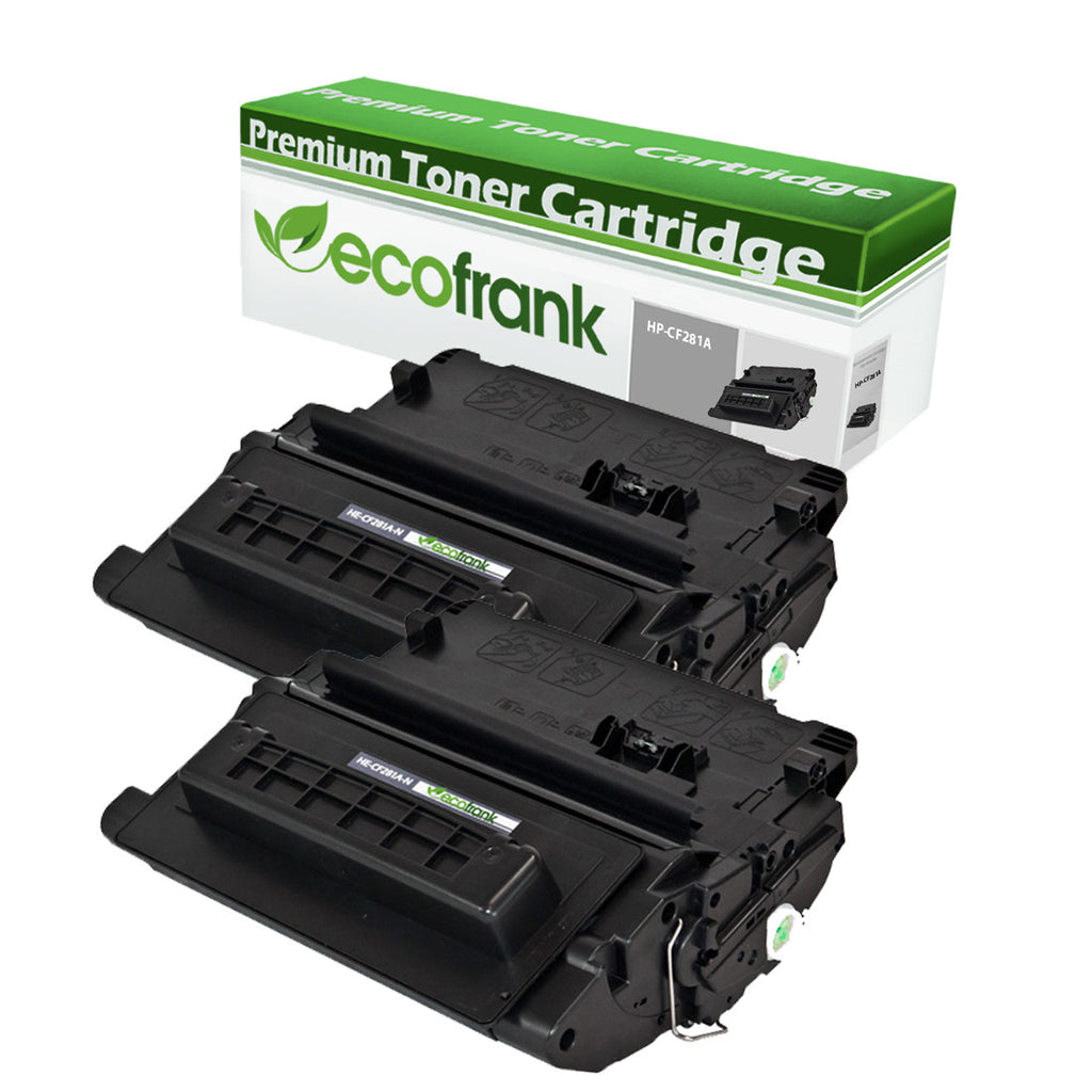 EcoFrank Compatible Toner Cartridge Replacement for HP 81A CF281A (Black, 2-Pack)