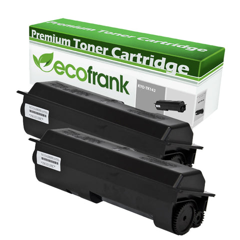EcoFrank Compatible (4K Standard Yield) Toner Cartridge Replacement for Kyocera TK140 TK142 TK144 (Black, 2-Pack)