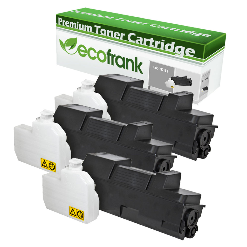 EcoFrank Compatible Toner Cartridge Replacement for Kyocera TK352 1T02J10US0 (Black, 3-Pack)