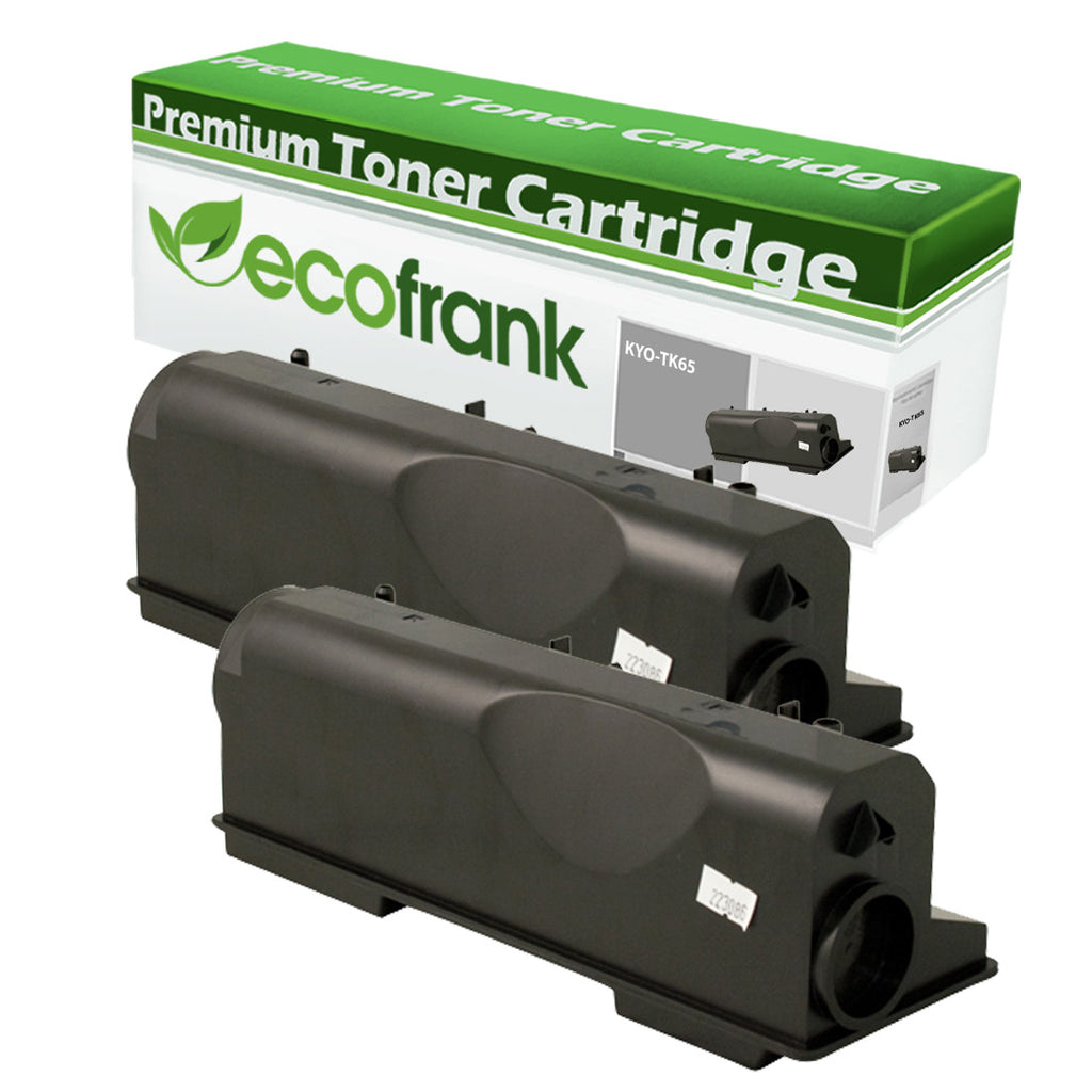 EcoFrank Compatible Toner Cartridge Replacement for Kyocera TK65 TK67 (Black, 2-Pack)