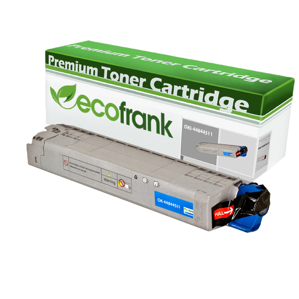 EcoFrank Compatible (High Yield) Toner Cartridge Replacement for Okidata 44844511 (Cyan, 1-Pack)