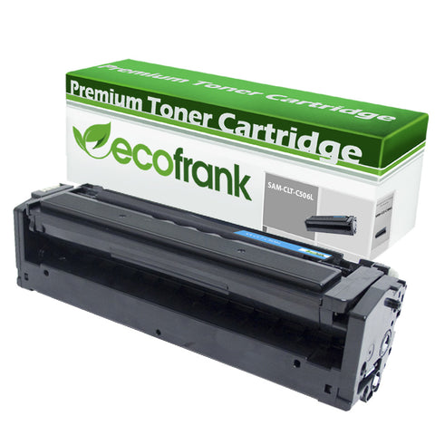 EcoFrank Compatible (High Yield) Toner Cartridge Replacement for Samsung CLT-C506L C506 (Cyan, 1-Pack)