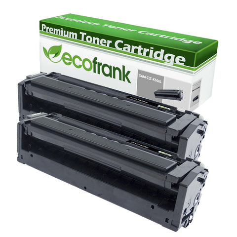 EcoFrank Compatible (High Yield) Toner Cartridge Replacement for Samsung CLT-K506L K506 (Black, 2-Pack)