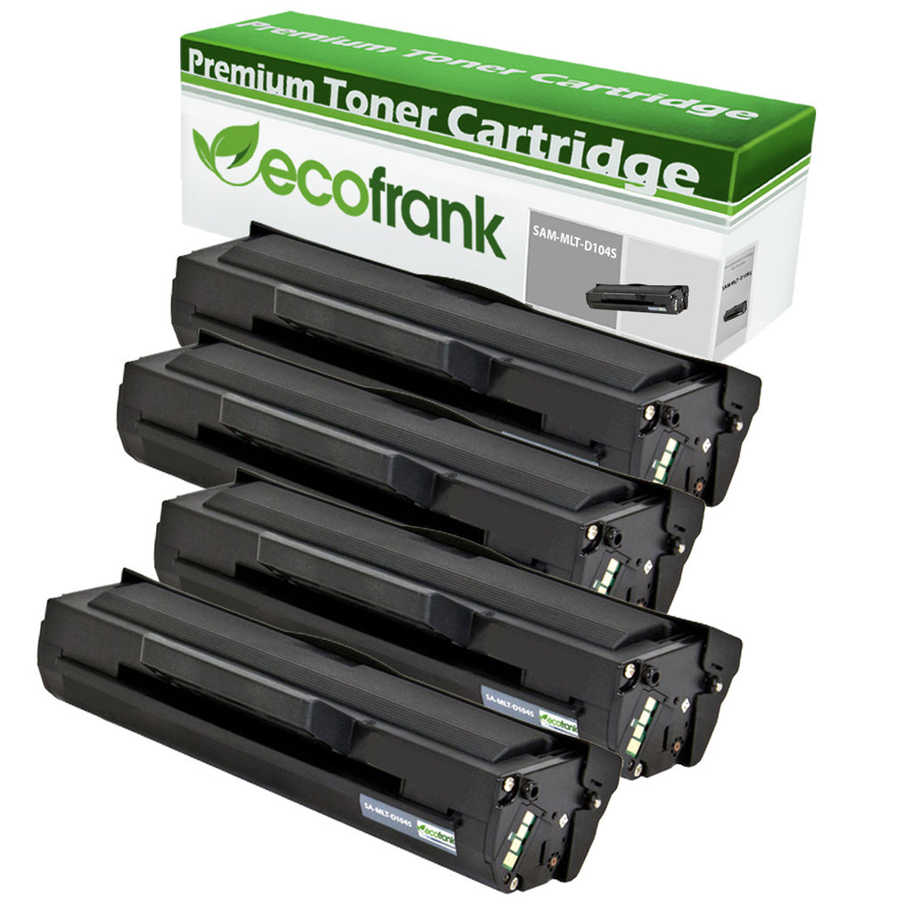 EcoFrank Compatible Toner Cartridge Replacement for Samsung MLT-D104S (Black, 4-Pack)