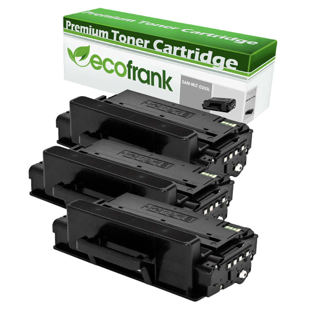 EcoFrank Compatible (High Yield) Toner Cartridge Replacement for Samsung MLT-D203L (Black, 3-Pack)