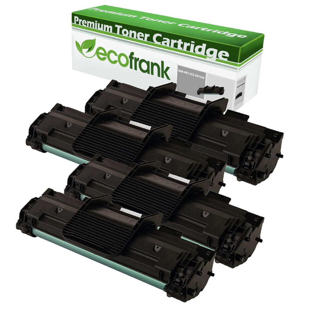 EcoFrank Compatible Toner Cartridge Replacement for Samsung SCX-D4725A (Black, 4-Pack)