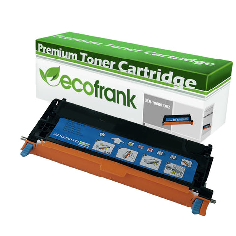 EcoFrank Compatible (High Yield) Toner Cartridge Replacement for XEROX 106R01392 (Cyan 1-Pack)