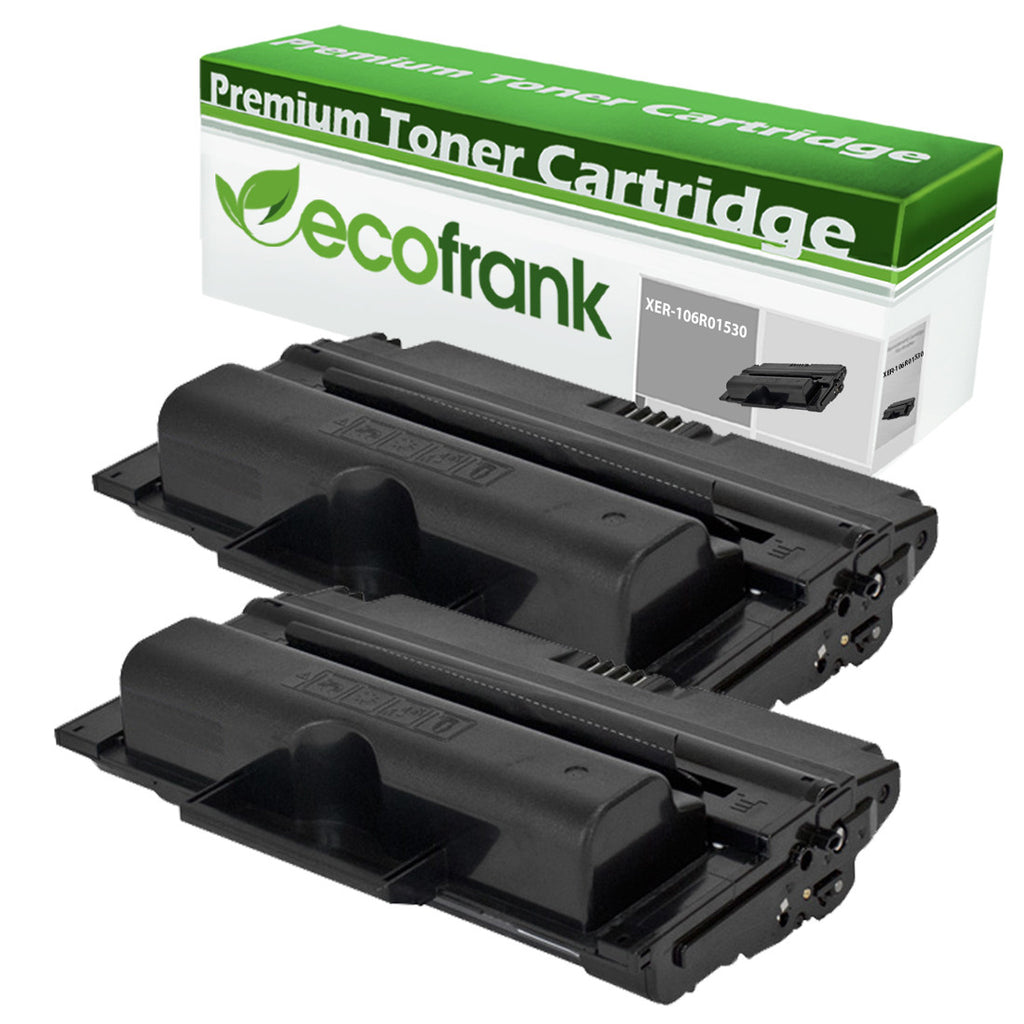 EcoFrank Compatible Toner Cartridge Replacement for XEROX 106R01530 (Black, 2-Pack)