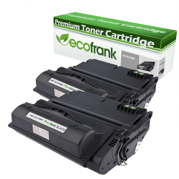 EcoFrank Compatible Toner Cartridge Replacement for HP 38A Q1338A | 42A Q5942A (Black, 2-Pack)
