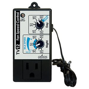 Grozone TV12 Day/Night Variable Speed Fan Controller Timer