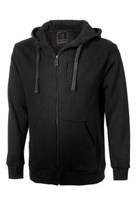 HoodLamb Mens Regular Zip Up Hoody Black