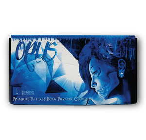 Opus Tattoo Nitrile Gloves, Case, Large