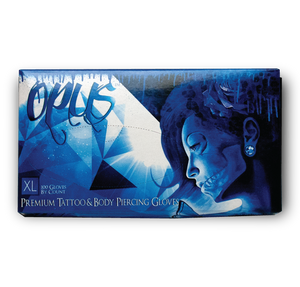 Opus Tattoo Nitrile Gloves, Case, Extra Large