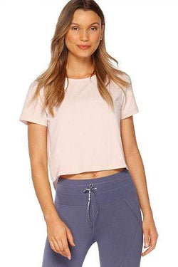 Breeze Cropped Active Tee, Swan Pink - Tops - Lorna Jane