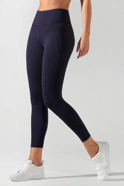 Amy Phone Pocket Ankle Biter Tight, French Navy