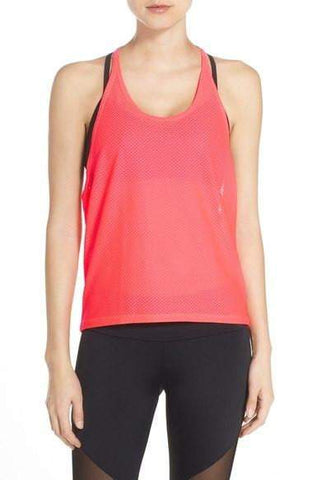 3680 T Back Mesh Tank One Size Watermelon (Onzie)