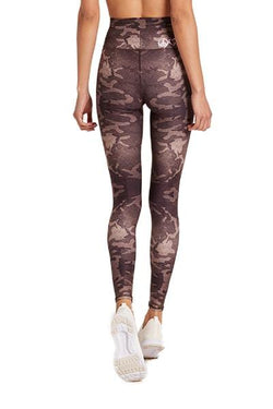 Barefoot High Waisted Legging, Camo Latte (Niyama Sol)