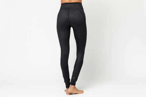 Lili Full Legging, Black Leopard Embossed By Vie Active