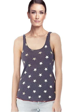 Printed Meegs Racer Tank Stars by Alternative Apparel