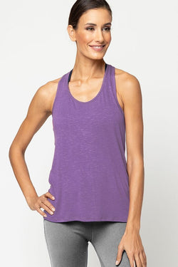 Meegs Racer Tank, Eco True Purple by Alternative Apparel