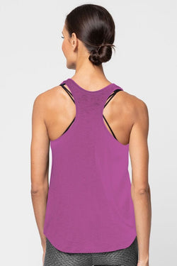 Meegs Racer Tank, Huckleberry by Alternative Apparel