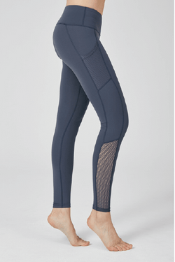 Fresh Up Mesh Leggings, Gray Navy (Mulawear)