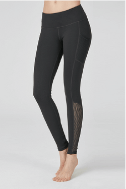 Fresh Up Mesh Leggings, Charcoal (Mulawear)