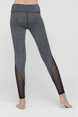 Illucy Line Mesh Leggings, Black Melange (Mulawear)