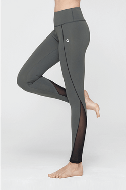Illucy Line Mesh Leggings, Khaki Black (Mulawear)