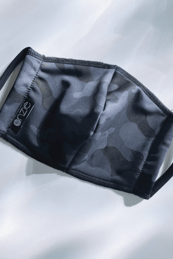 Face Mask, Black Gray Camo (Onzie)