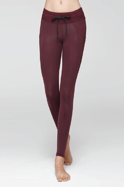 Side Pocket Sweat Leggings, Mulberry (Mulawear)