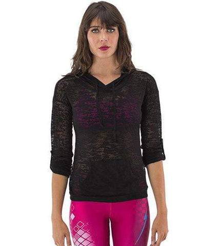 Burnout Hoodie Black (Electric Yoga)