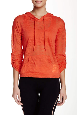 Burnout Hoodie Coral (Electric Yoga)
