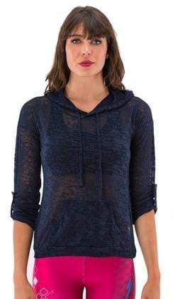 Burnout Hoodie Navy (Electric Yoga)