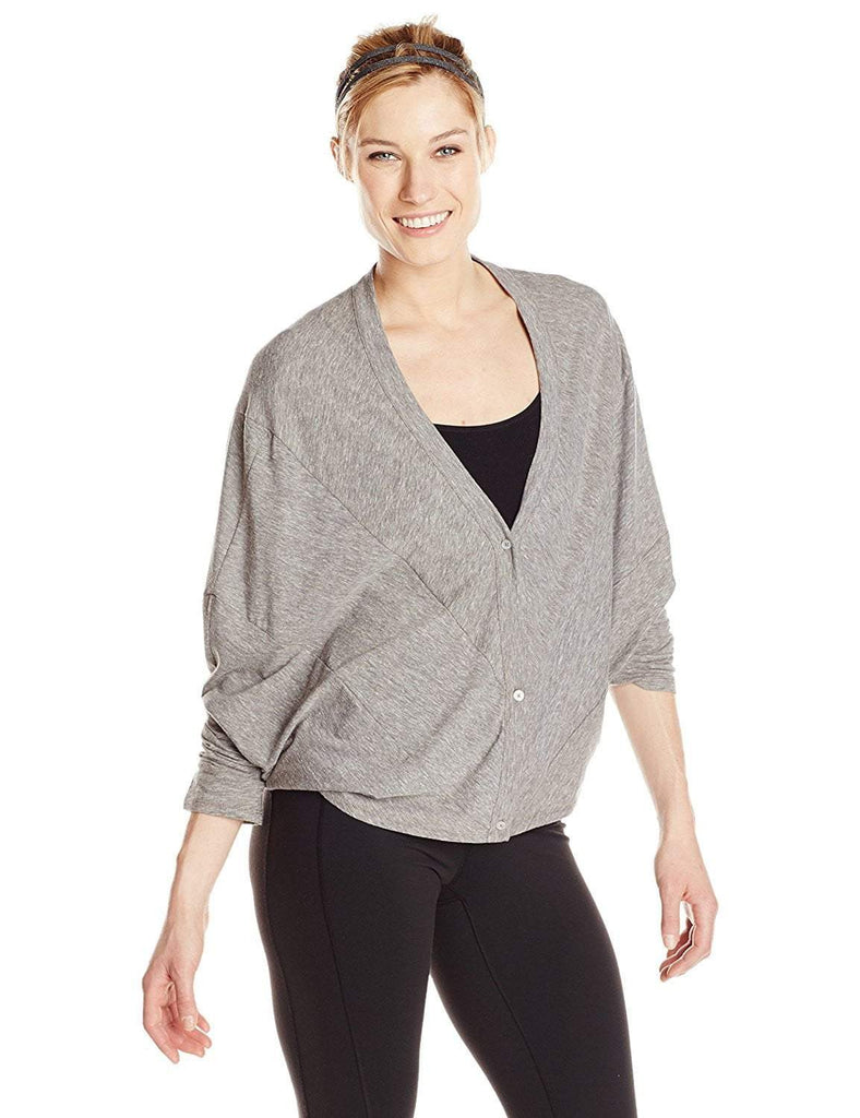 Button Up Laze Cardigan Heather Grey (Colosseum)