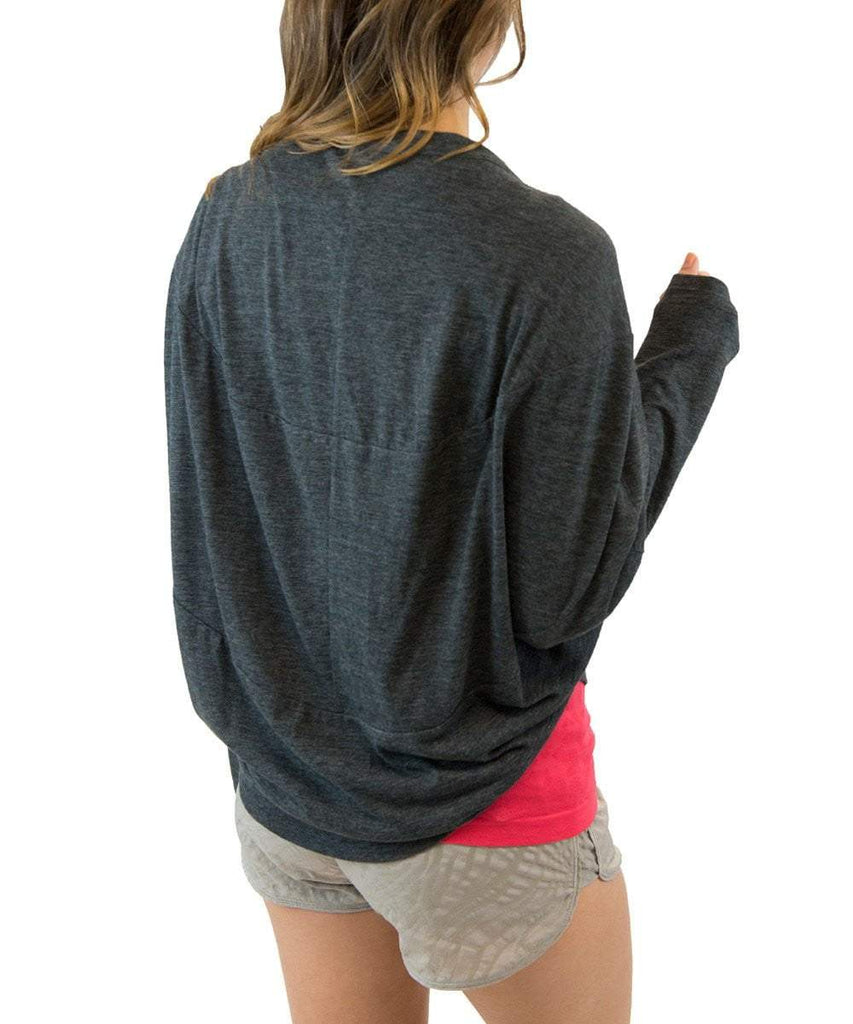 Button Up Laze Cardigan Heather Charcoal (Colosseum)