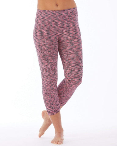 Compression Capri Black/Hot Pink (Electric Yoga)