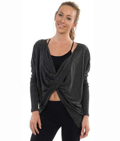 Cross My Heart Long Sleeve Top Charcoal (Colosseum)