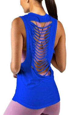 Slash Racerback Tank, Cobalt by Glyder