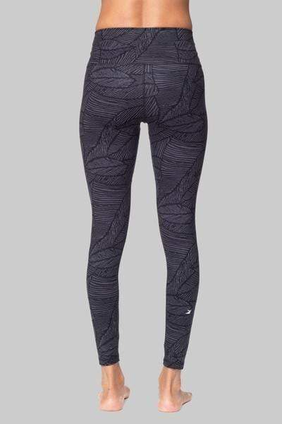 High Power 7/8 Legging Leaf, Gray & Black Palm Print (Glyder) - Full - Glyder