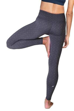 Jacquard 7/8 Leggings, Black Grey by Glyder