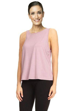 Lace Back Tank, Purple by The Free Yoga