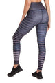 Barefoot High Waisted Legging, Slate Stripe (Niyama Sol)