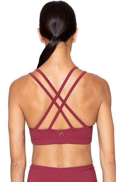 Lindsay Bra, Burgundy (Vie Active) - Bra Top - Vie Active