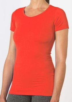 Link Short Sleeve Top Fiery Coral (MPG) - Shirt - MPG