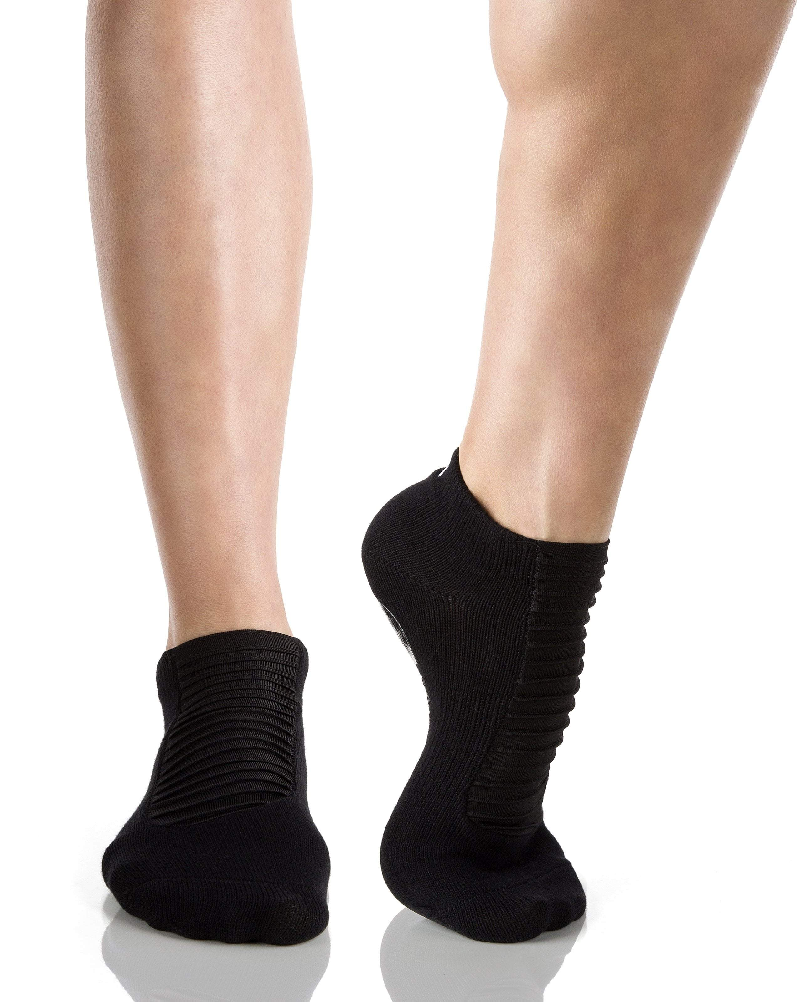 MOTO Closed Toe Grip Socks, Black