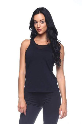 Black Mesh Tank Top (The Free Yoga)